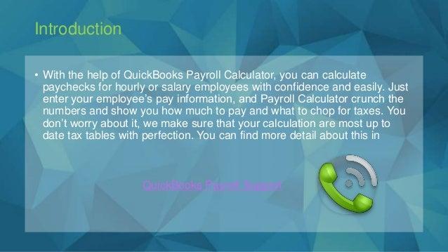 quick books payroll calculator