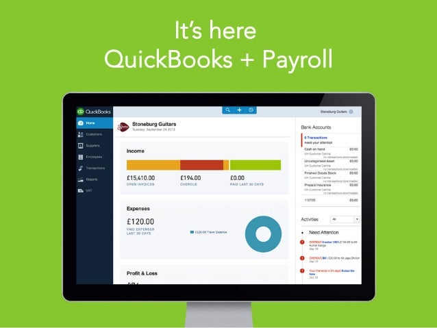 Intuit Proprietary & Confidential1 It's here QuickBooks + Payroll