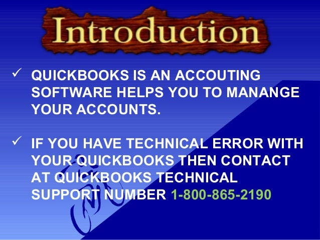 Quickbooks Technical Support Phone Number 1-800-865-2190 Slide 2