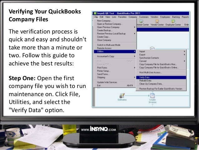 How To Use The Quickbooks Verify Utility
