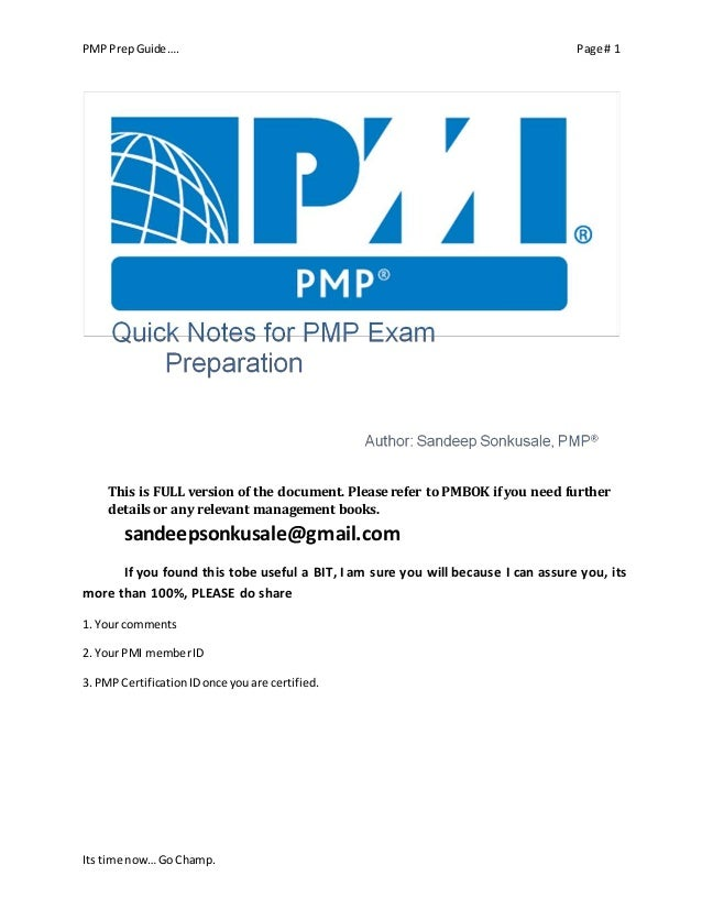 Pmp Success Preparation To Passing The Certification