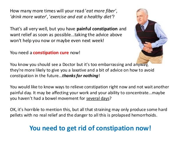 How to Cure Constipation Fast!