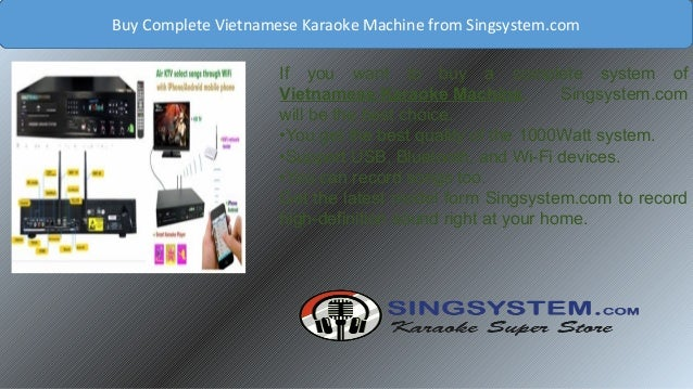 Quick Delivery of Hdd Karaoke Player Vietnamese From Singsystem com