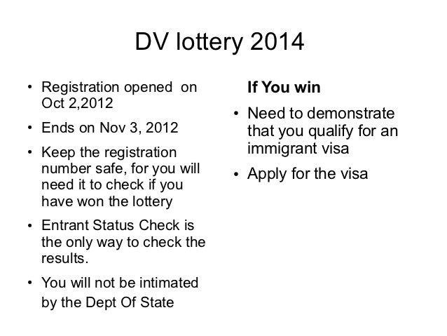 Entrant Status Check >> Quick facts about the DV lottery