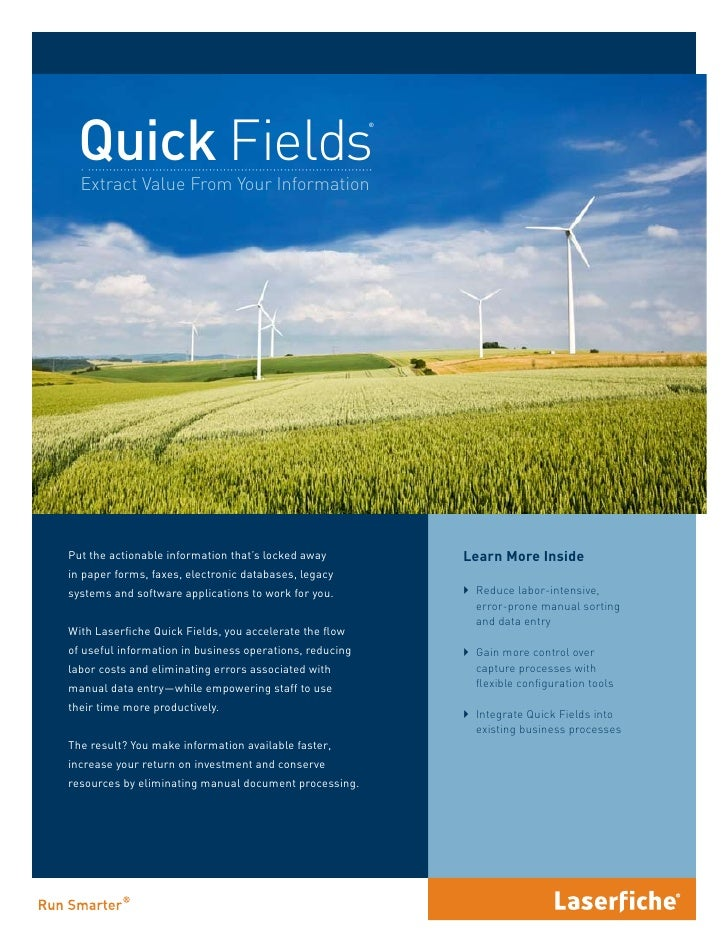 Quick Fields                                                          ®       Extract Value From Your Information     Put ...