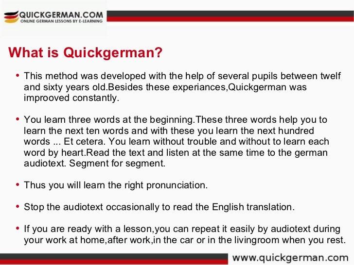 Learn German Free Online | German Tutorial