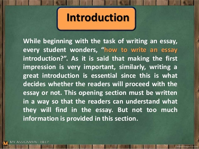 Essay Writing How To Write An Introduction