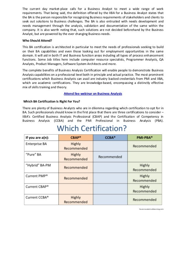 Quick Guide on Business Analysis Certifications