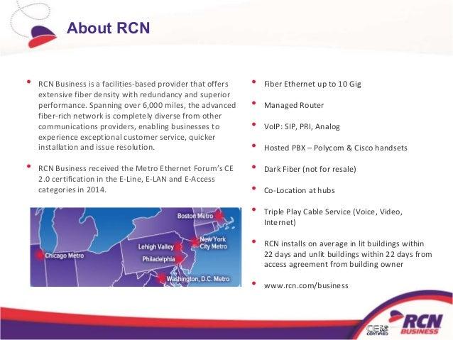 RCN BUSINESS SERVICES PARTNER PROGRAM; 2.
