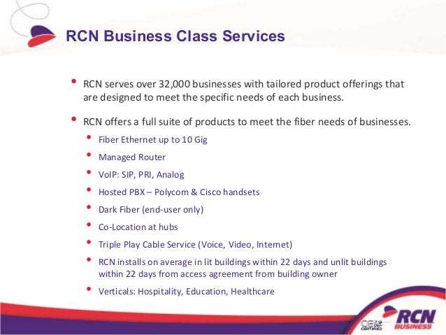 ... 3. RCN Business Class Services ...