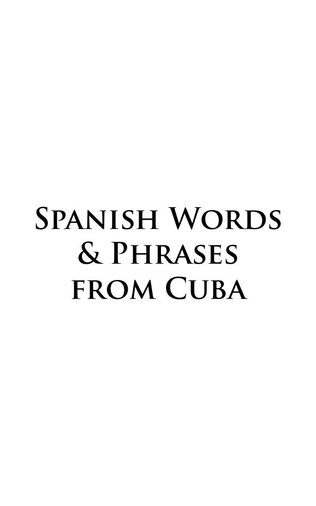 Spanish Words & Phrases from Cuba
