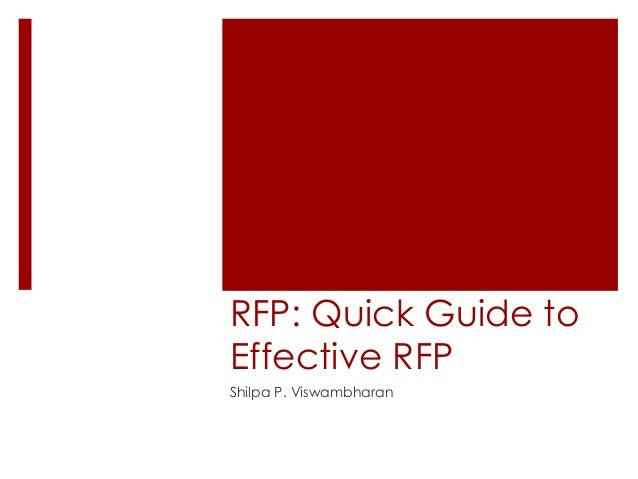 how to create an effective rfp