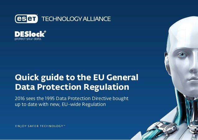 Quick guide to the EU General Data Protection Regulation 2016 sees the 1995 Data Protection Directive bought up to date wi...