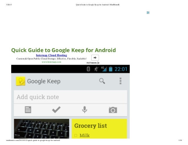 3/26/13                                                             Quick Guide to Google Keep for Android | ModMonstR    ...