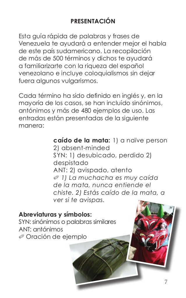 Quick Guide To Venezuelan Spanish Book Preview