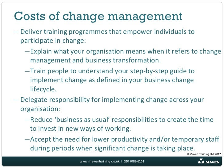 why is change necessary for managers Full-text paper (pdf): organizational change management: a critical review   to identify, plan and implement the necessary organisational.