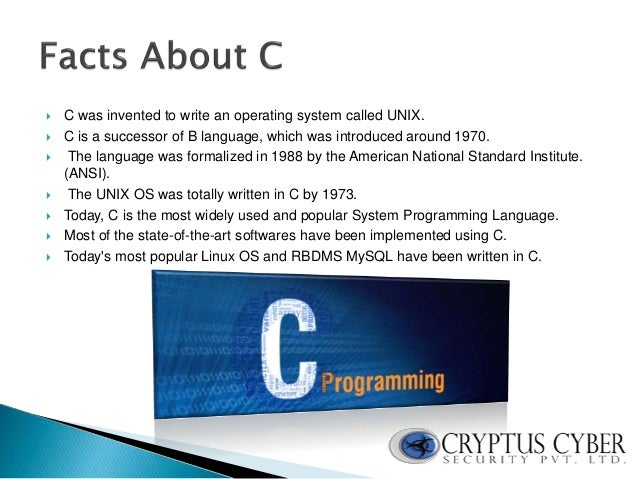 an introduction to the unix and the language c An introduction to the imperative part  the classic reference book on c++ written by the inventor of the language,  14 the c++ programming environment in unix.