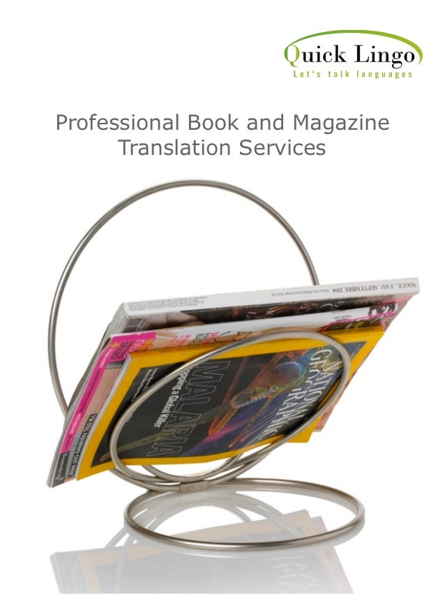Professional Book and Magazine      Translation Services
