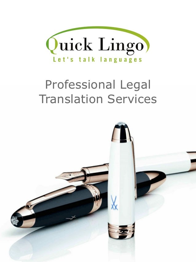 Professional LegalTranslation Services