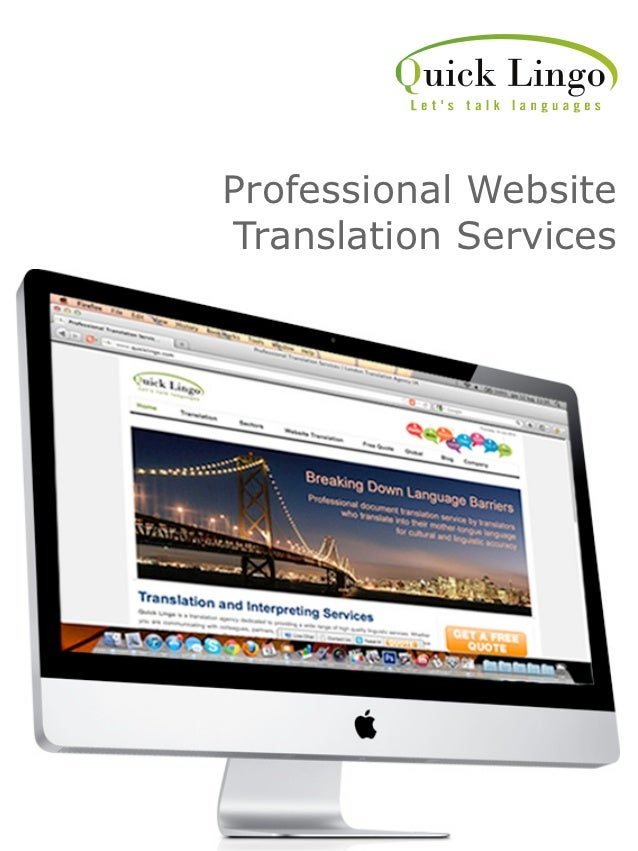 Professional WebsiteTranslation Services