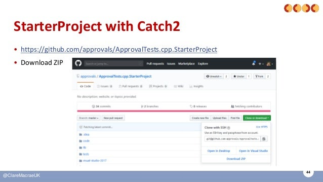 44 @ClareMacraeUK StarterProject with Catch2 • https://github.com/approvals/ApprovalTests.cpp.StarterProject • Download ZIP
