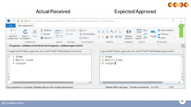 51 @ClareMacraeUK Actual/Received Expected/Approved