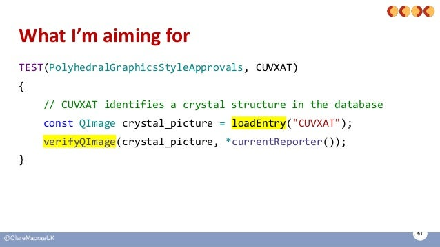 91 @ClareMacraeUK What I'm aiming for TEST(PolyhedralGraphicsStyleApprovals, CUVXAT) { // CUVXAT identifies a crystal stru...