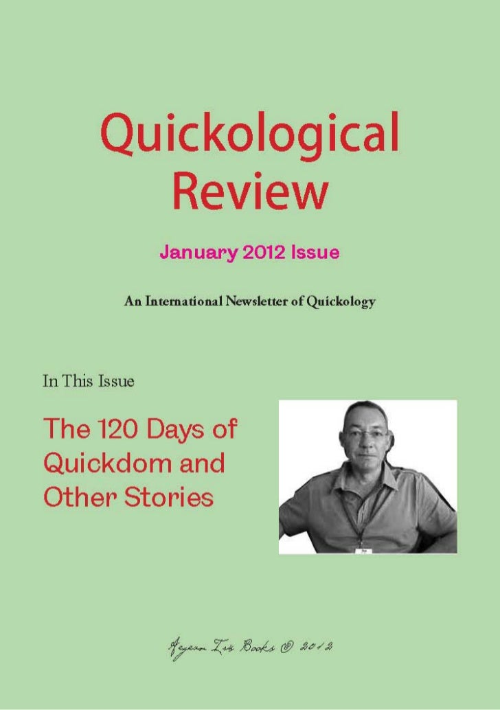 Quickological Review January 2012 Issue Aegean Iris Books Presents