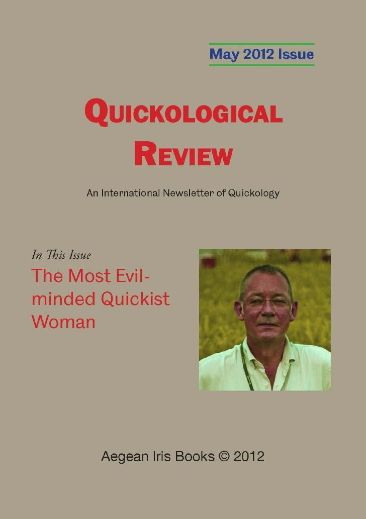Quickological Review May 2012 Issue by Aegean Iris Books