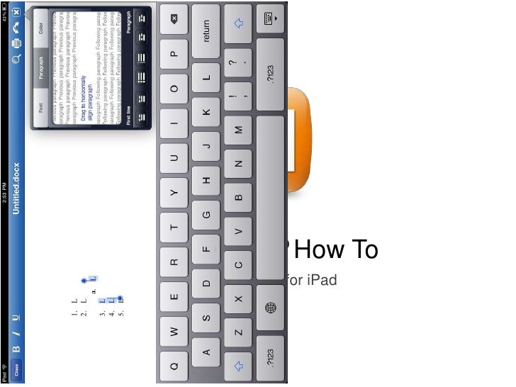 Quickpoint® How To   Quickoffice® for iPad