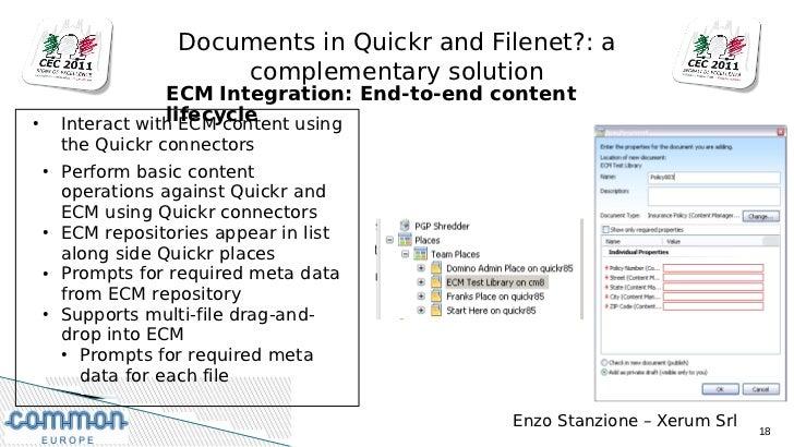 Ibm Lotus Quickr 8 5 And Ibm Filenet Integration