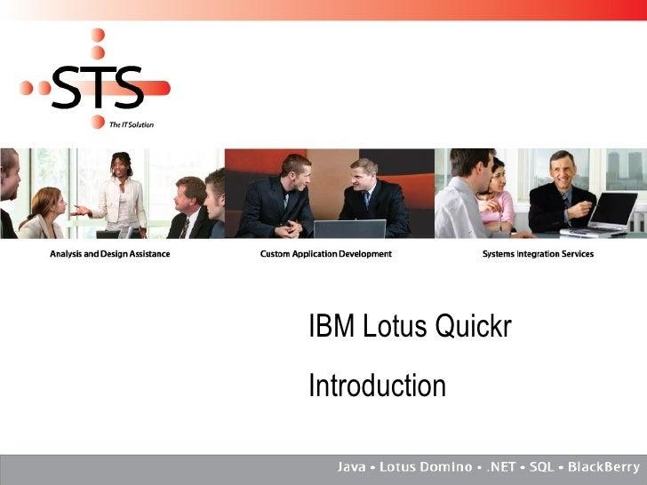 IBM Lotus Quickr Introduction