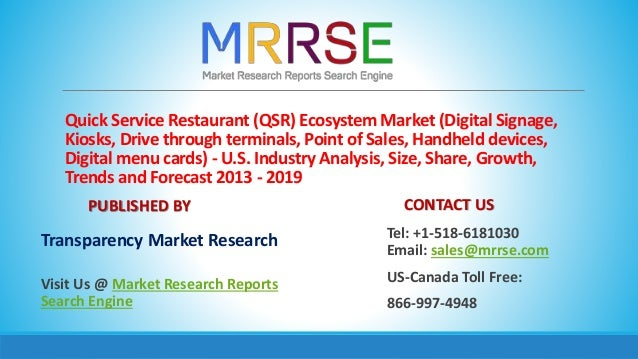 Quick Service Restaurant (QSR) Ecosystem Market (Digital Signage, Kiosks, Drive through terminals, Point of Sales, Handhel...