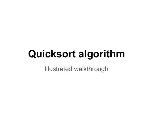Quicksort algorithm Illustrated walkthrough