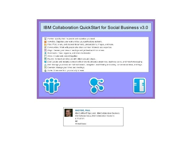 IBM Collaboration QuickStart for Social Business v3.0