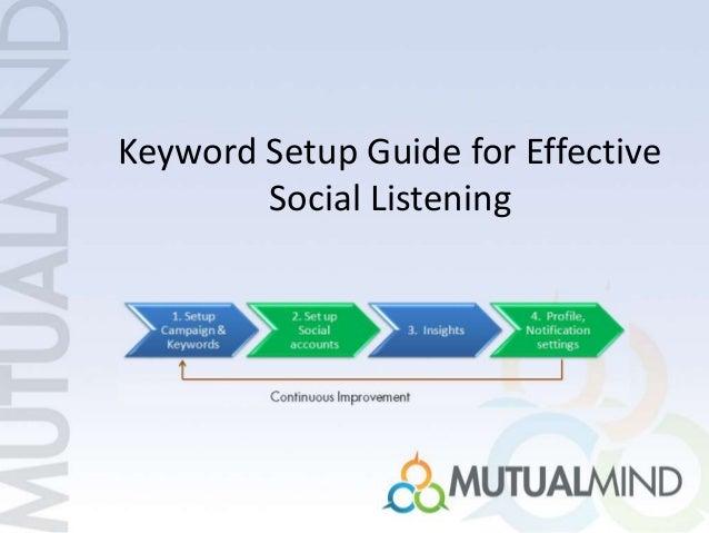 Keyword Setup Guide for Effective Social Listening