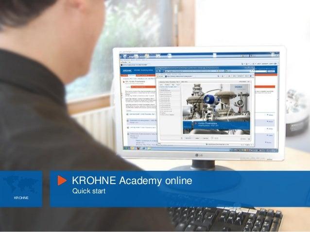 KROHNE Academy online Quick start KROHNE