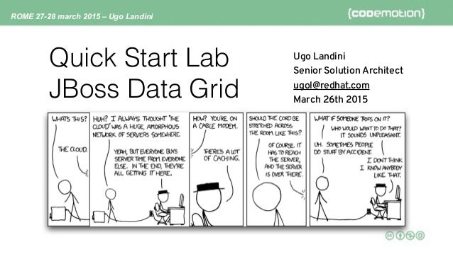 ROME 27-28 march 2015 – Ugo Landini Quick Start Lab JBoss Data Grid Ugo Landini