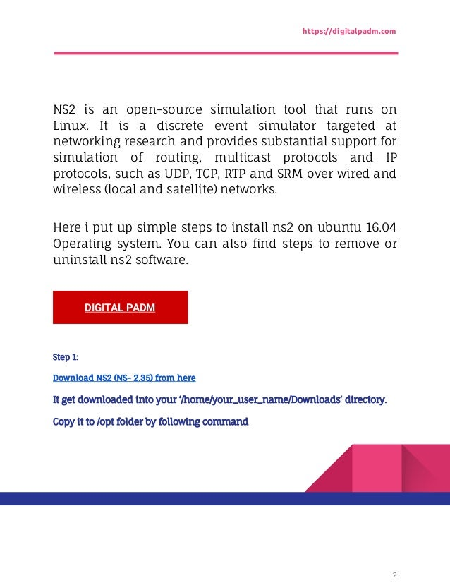 Install ns2 (network simulator) on ubuntu 18. 04 | blog.
