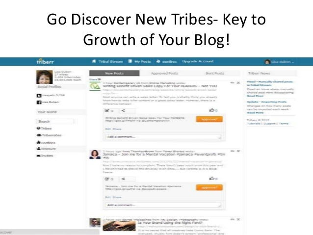 Browse Tribes That Make Sense for           Your Niche
