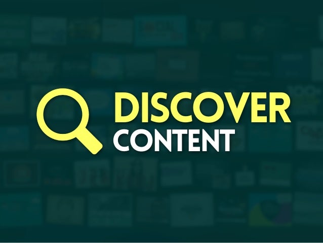 Discover content