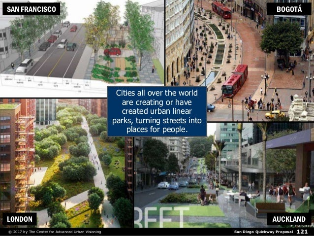 San Diego Quickway Proposal© 2017 by The Center for Advanced Urban Visioning 121 Cities all over the world are creating or...