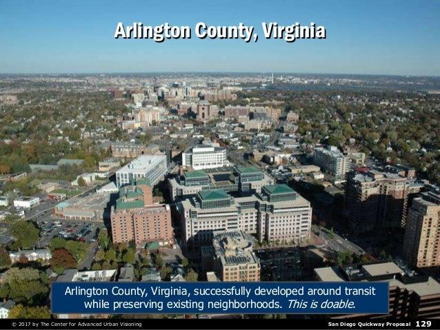 San Diego Quickway Proposal© 2017 by The Center for Advanced Urban Visioning 129 Arlington County, Virginia Arlington Coun...