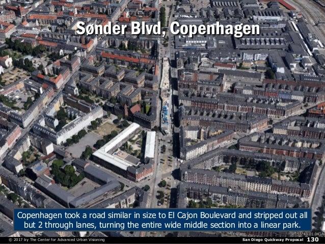 San Diego Quickway Proposal© 2017 by The Center for Advanced Urban Visioning 130 Sønder Blvd, Copenhagen Copenhagen took a...