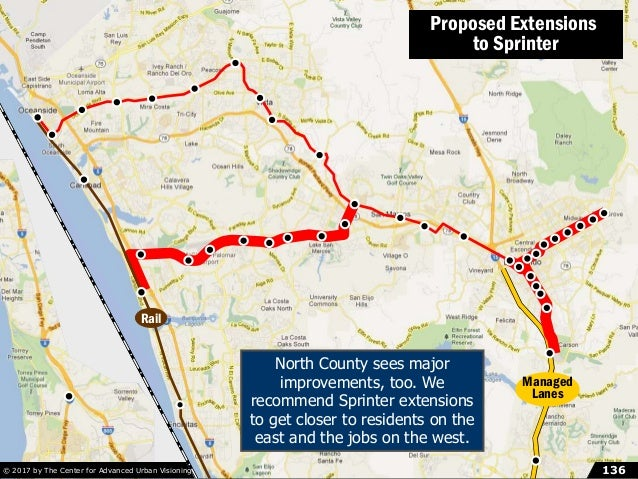 The Quickway Proposal, pt. 8: North County© 2014 by The Mission Group 136136© 2017 by The Center for Advanced Urban Vision...