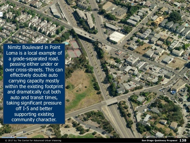 San Diego Quickway Proposal© 2017 by The Center for Advanced Urban Visioning 138 Nimitz Boulevard in Point Loma is a local...