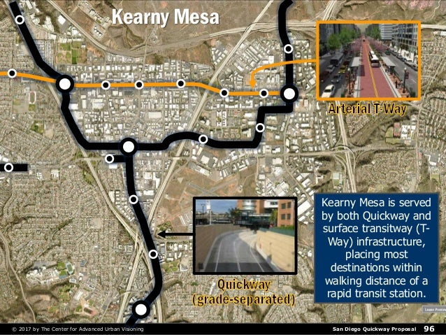San Diego Quickway Proposal© 2017 by The Center for Advanced Urban Visioning 96 Kearny Mesa Kearny Mesa is served by both ...