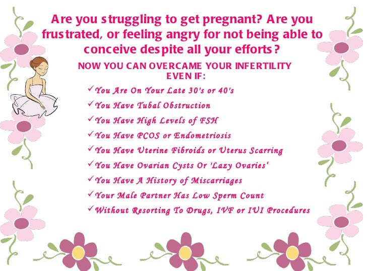 Are you struggling to get pregnant? Are you frustrated, or feeling angry for not being able to conceive despite all your e...