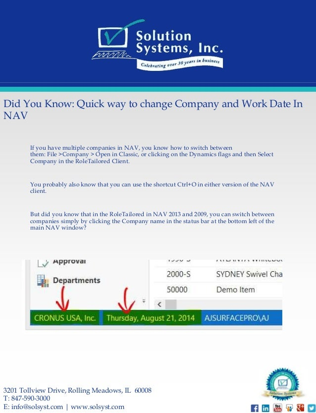 1 Microsoft Way Redmondhttpswww Bing Commapsq Go To Www Bing Com Form Hdrsc4: Did You Know: Quick Way To Change Company And Work Date In