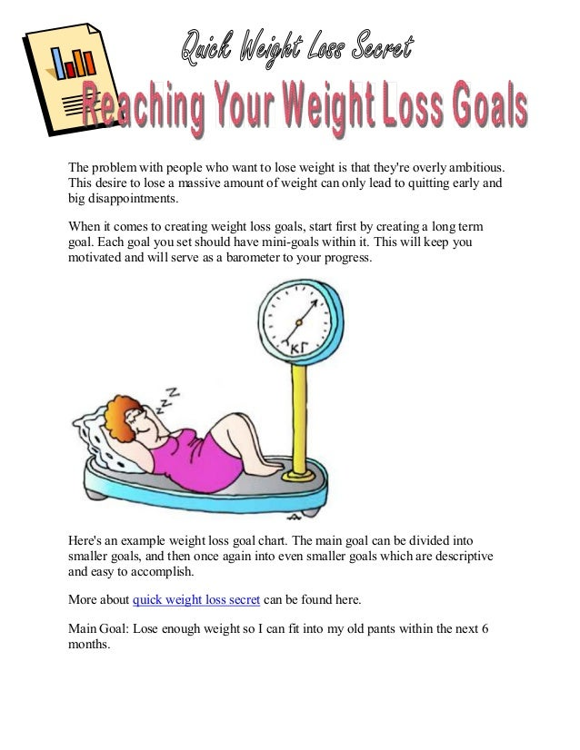 The problem with people who want to lose weight is that theyre overly ambitious.This desire to lose a massive amount of we...